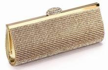 Il modo migliore prezzo diamante eveningbag di alta qualità completa strass cena sacchetto/borsa della frizione/sacchetto di cerimonia nuziale nuziale no3086 nero silver & gold(China (Mainland))