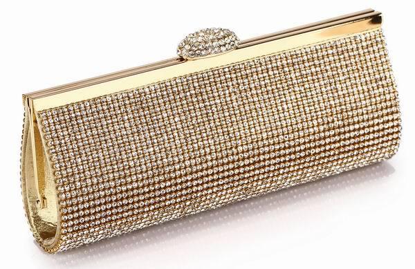 We Best Price Diamond Eveningbag High Grade Full Rhinestone Dinner Bag/Clutch Purse/Bridal Wedding Bag NO3086 black silver&gold(China (Mainland))