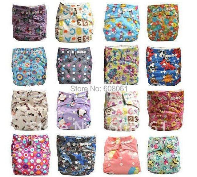 FREE Shiping Baby Cloth diaper 10pcs +20pcs( 3layer ) microfiber inserts