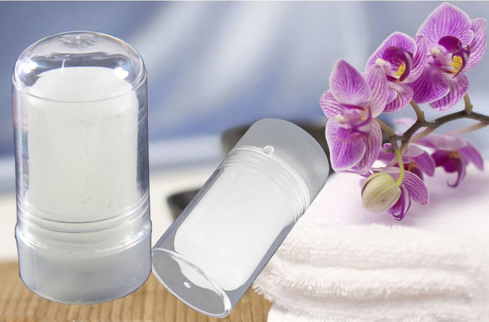 Deodorant crystal Natural Alum Stick Crystal deodorant antiperspirant stick Alum 60G 100 original Free Shipping(China (Mainland))