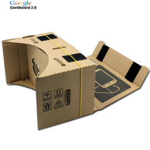 High quality DIY Google Cardboard 2.0 Virtual Reality VR Mobile Phone 3D Viewing Glasses for 5.0″ Screen Google VR 3D Glasses