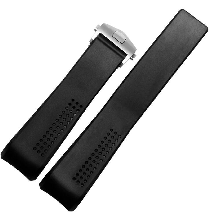 Replacement Watch band 22mm 24mm New Top grade Black Diving Silicone Rubber Holes Watch Band Strap forTAG<br><br>Aliexpress