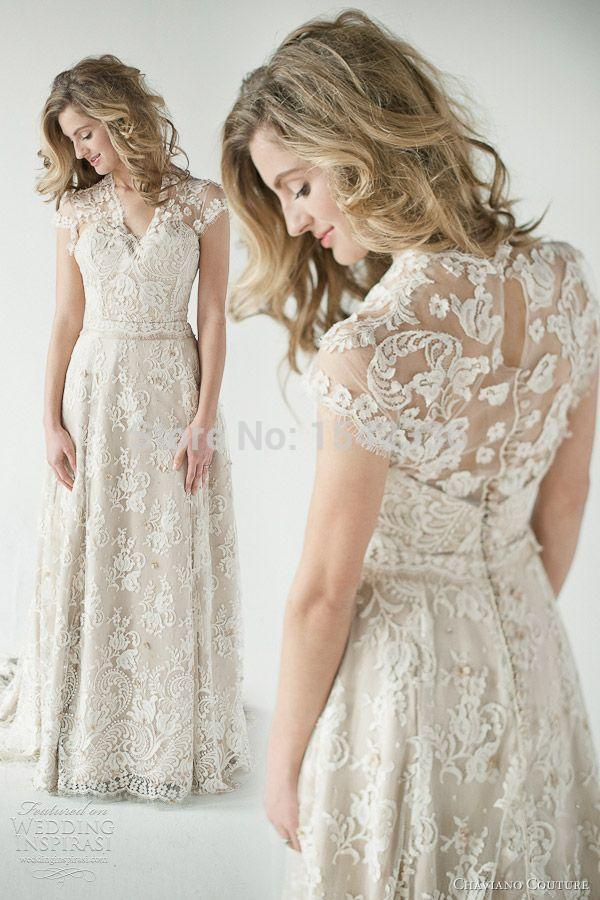 2015 lace back wedding dresses a vintage inspired sheer for Wedding dresses lace back