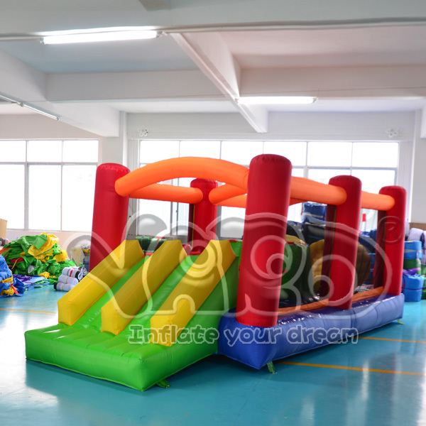 Residential inflatable obstacle course bounce house jump bouncer moonwalk trampoline(China (Mainland))
