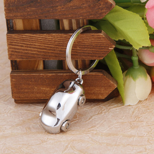 New Cute Mini Car Key chains Ring Fashion Polished Metal Solid personality sports car accessories Keychain accessories QC140(China (Mainland))
