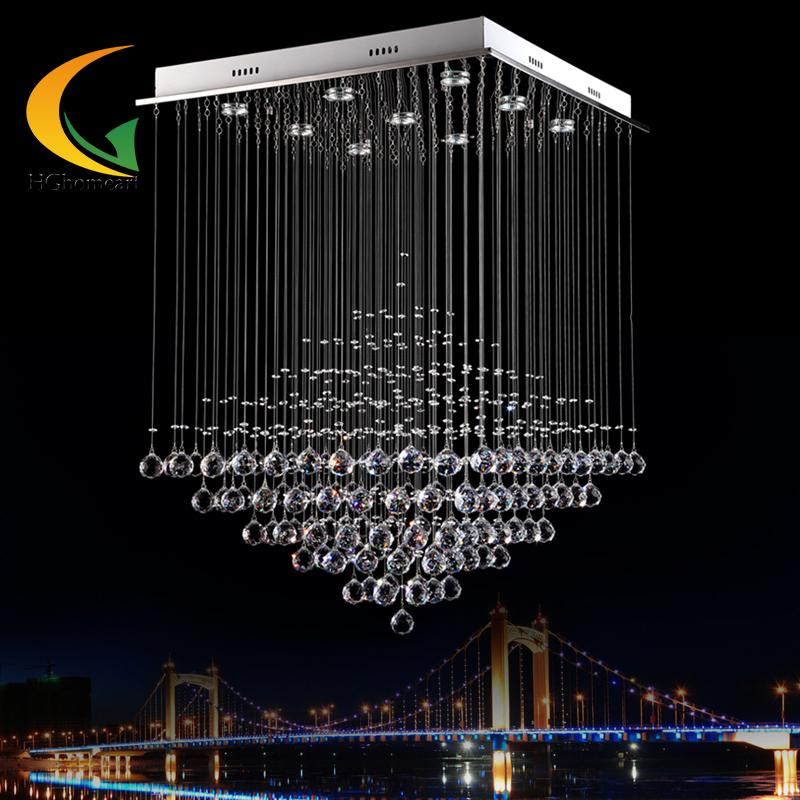 modern minimalist led living room chandelier crystal lamp