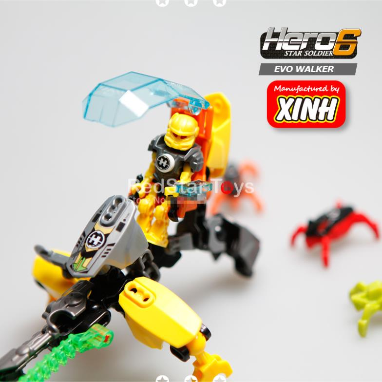 EVO Walker Hero Factory 6.0 Brain Attack Minifigures Blocks Kids Toys Gifts INVASION FROM BELOW Compatible With LEGO 44015<br><br>Aliexpress