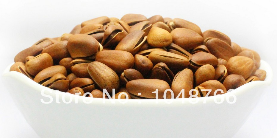 Nut roasted seeds and nuts casual food dried fruit child wild pine nuts 250g Chinese green