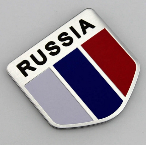 Russian Flag Metal Auto Refitting Shield shape car Stickers Badge Emblem Decal Suitable for most models Hot car accessories<br><br>Aliexpress