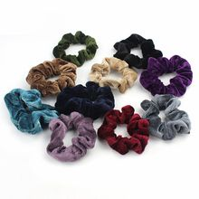 Buy 4 Pcs/Set Spring Summer New Fashion Women Elastic Hair Scrunchies Velvet Hair Rope Beauty Hairband Accessories for $1.38 in AliExpress store