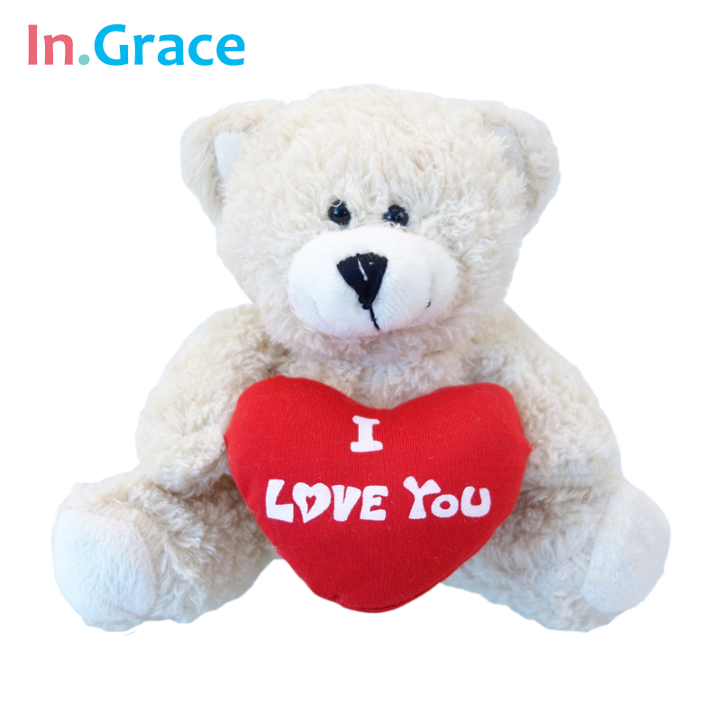 InGrace classical teddy bear toys with red heart i love you plush animal doll high quality handmade soft toy freeshipping teddy(China (Mainland))