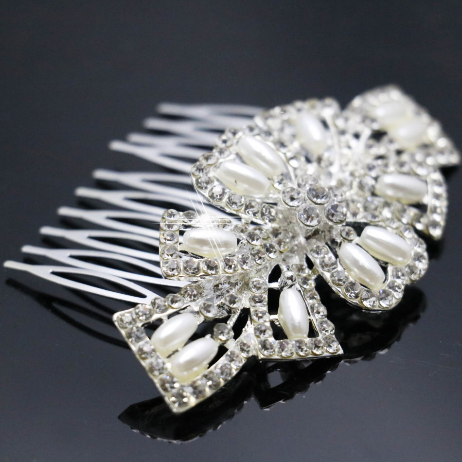 2015 Wedding Crystal High-quality Hairpin Fashion Hair Pearl Diamante Comb Hair Clips For Women New Headwear Jewelry Accessories(China (Mainland))