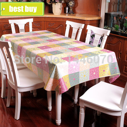 Hot Sale Tablecloths European Garden Home PVC Elegant Table Cloth Plastic Waterproof Oil Dining Tablecloth(China (Mainland))
