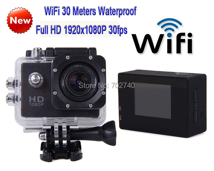 2014 New WiFI Full HD 1920x1080P 30m Waterproof Sports Action Camera Waterproof Photo Motorcycle Bicycle Camera Free shipping<br><br>Aliexpress