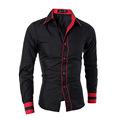 2016 Hot men s Shirts 5 Style Luxury New Fashion Men Slim Fit Shirt Long Sleeve