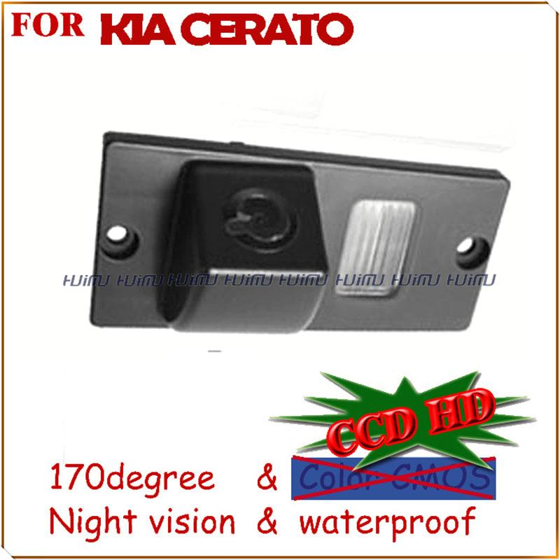 wire wireless ccd LEDS Car Rear View camera rear viewer backup camear for ccd/sony ccd KIA CERATO parking assist night vision(China (Mainland))