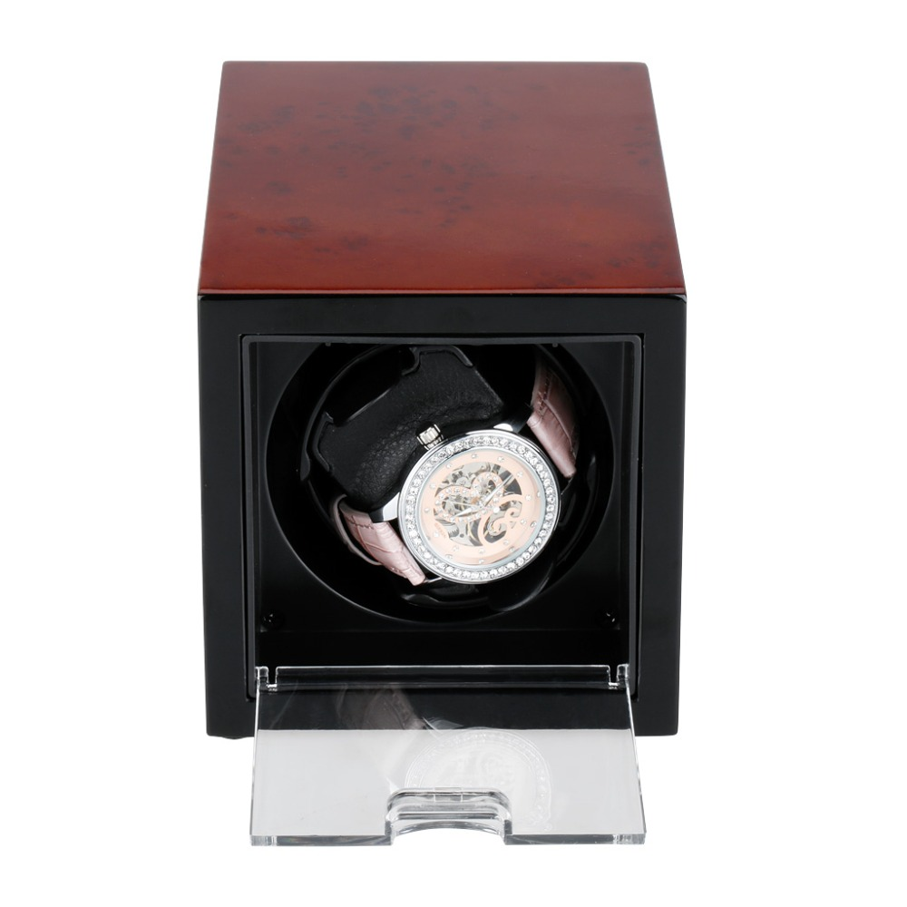 Shipping From Russian New Automatic Watch Winder Box Rectangle Singer Watch Winder Professional Watch Tools With UK Plug<br><br>Aliexpress
