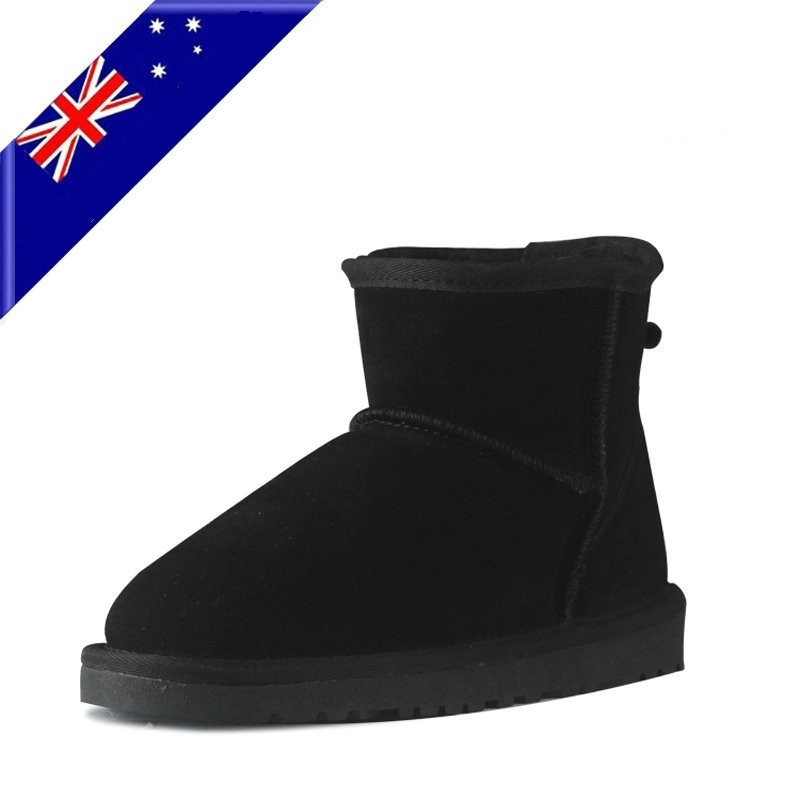 Classic Australie fashion genuine cow leather big girls Warm fur winter short ankle snow boots for women winter shoes with 2016