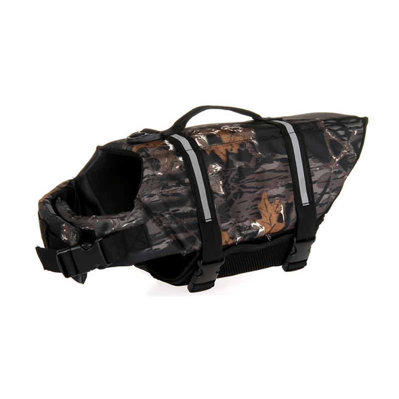 2016 New Exports pet dog safetycamouflage swim suit pet rescue body vest dog life jacke large dog swimsuits SARV001(China (Mainland))