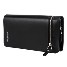 NEW Bifold Men Wallet Brand Famous Mens Leather Long Wallet Clutch Male Money Purse ID Card Holder Carteira Masculina(China (Mainland))