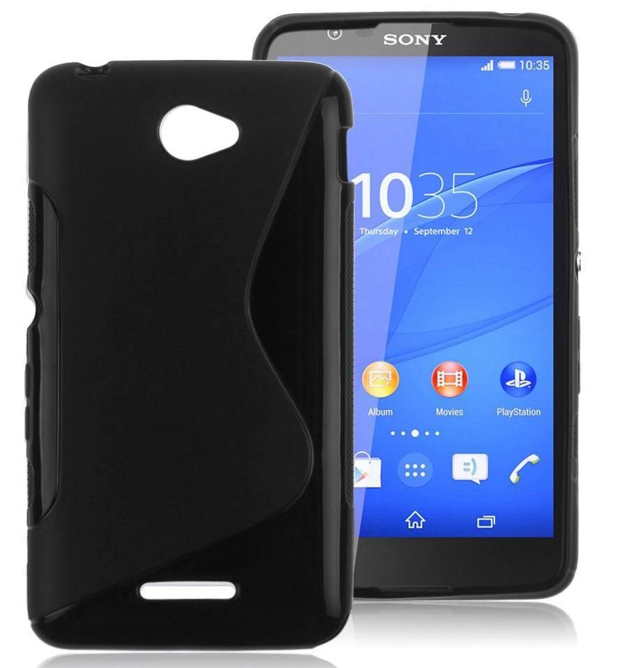 S-Line TPU Gel Case Sony Xperia E4 Case E2104 E2105 Dual E2115 E2124 Back Cover Case Non-slip Silicone Rubber Case