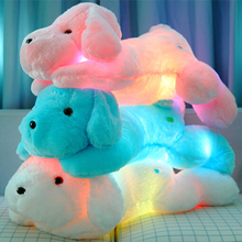 New Year 50CM Length Creative Night Light LED Lovely Dog Stuffed and Plush Toys Best Gifts for Kids and Friends YZT0145B(China (Mainland))