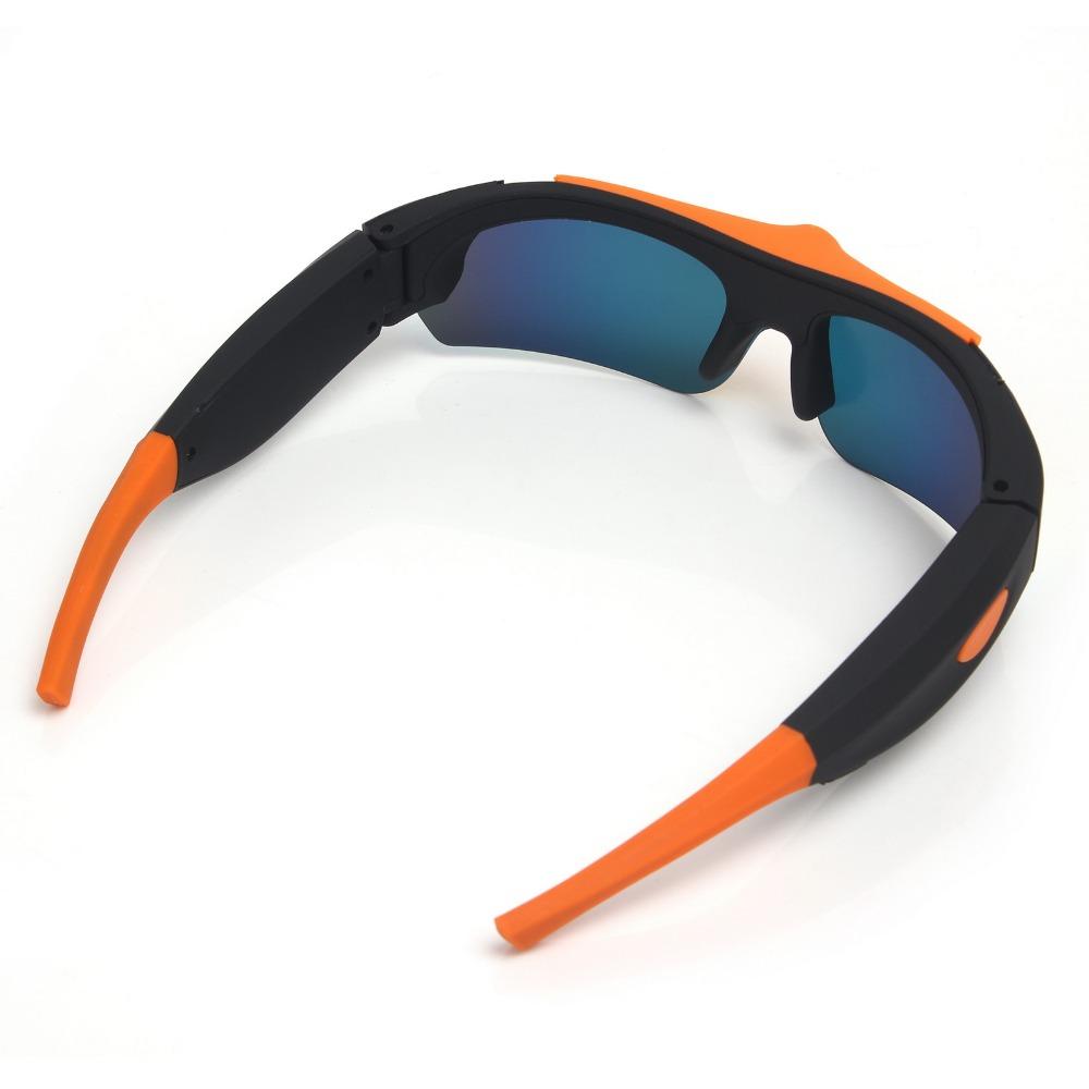 HD 1080P Sunglasses Mini Camera Wide angle 120 degrees Black/Orange Mini DV Camcorder DVR Video Camera Smart Glasses sm16