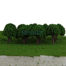50pcs 3cm Scenery Landscape Train Model Trees Scale 1/500(China (Mainland))