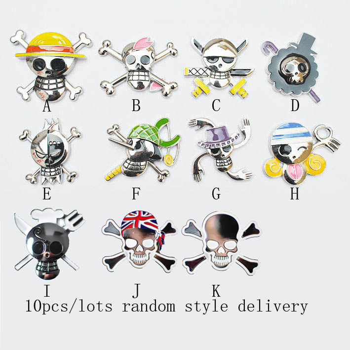 3D Car stickers skull logo decorative stickers dimensional texture motorcycle sticker random style 10pcs/lots(China (Mainland))