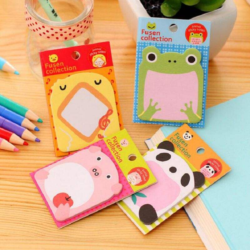 animal post it panda sticky notes frog memo pad notepad sketchbook sticky note papelaria stationery sticker paper(China (Mainland))