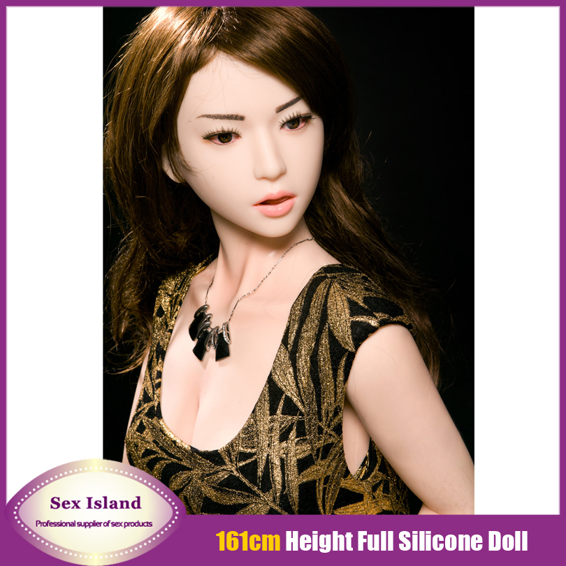 New 161 CM Full Size Realistic Silicone Oral Sex Dolls With Skeleton lifelike Real Silicone Sex