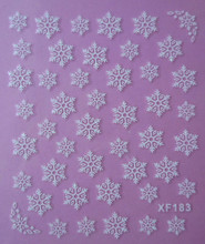 Wholesale nail art nail XF 3D nail stickers Nail Polish partners XF183
