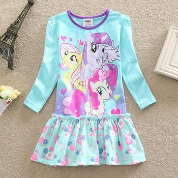 One pca!!2015 summer girls dress Children's clothing baby girls clothes,Girls cute Princess dress,Girls little pony dress