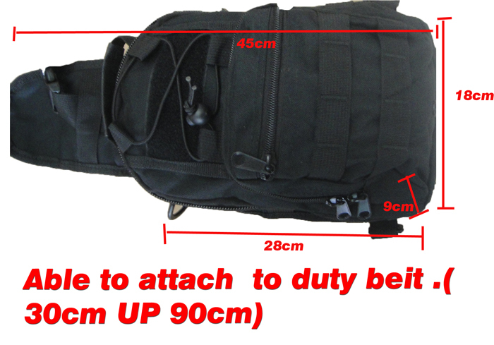 Tactical Molle Utility Gear Shoulder Sling Bag Black S size free ship(China (Mainland))
