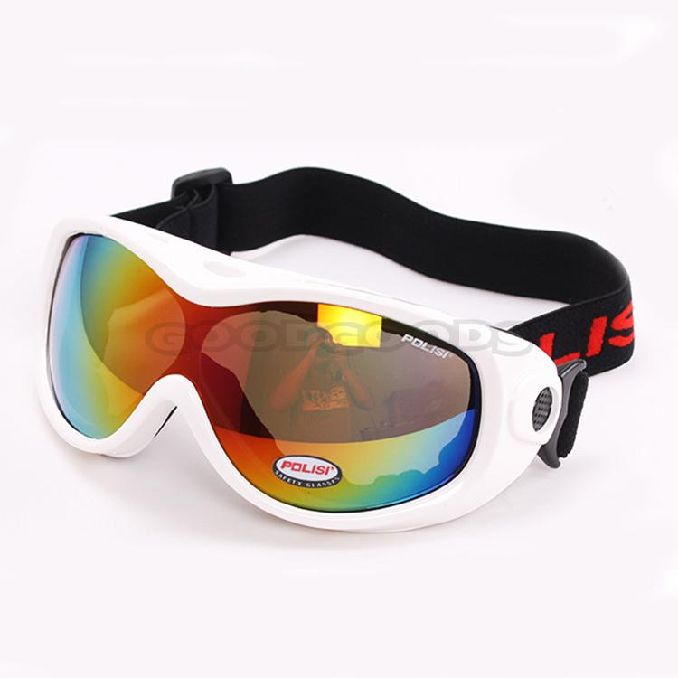 POLISI Motorcycle Bike ATV Motocross Ski Snow Snowboard Off-road Goggles Glasses coloured Lens Free shipping(China (Mainland))