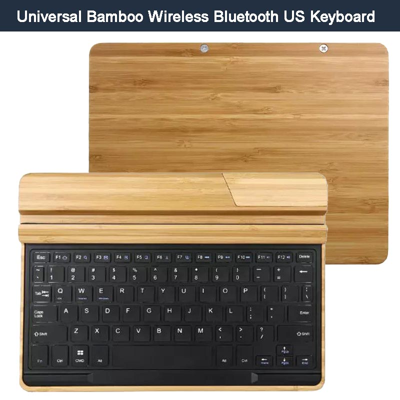 Handcrafted Bamboo Universal Tablet Stand Holder Wireless Bluetooth Keyboard for  iPad Pro/ Air 2, Galaxy Tab S, Surface Pro 3 4<br><br>Aliexpress