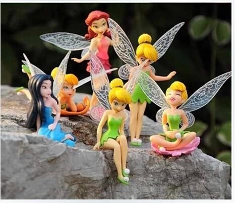 free drop shipping 6pcs/set hot saless 7-10cm Beautiful faery wonderful fairy doll furnishing articles pvc girls toys - shen zhen children trade export co., LTD store