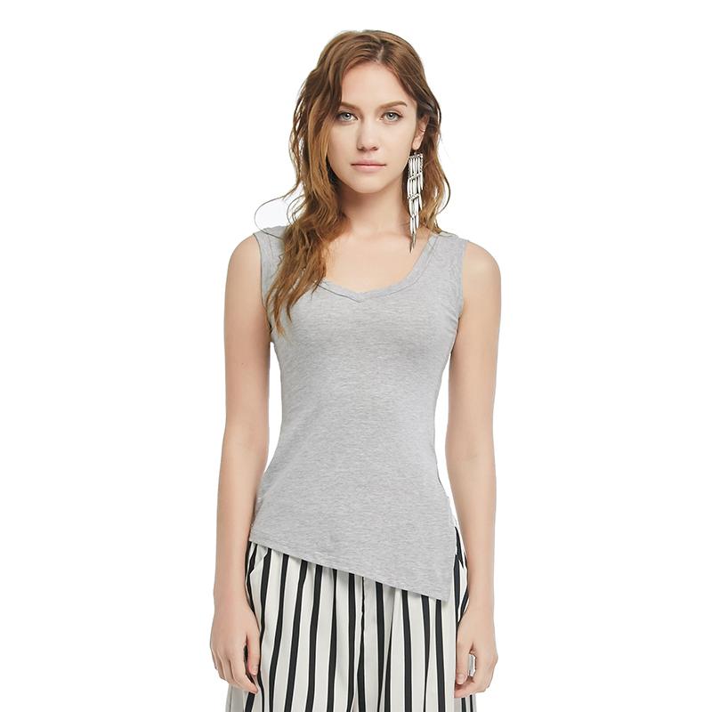 2016 New Summer Korean Style Womens Short Sleeve Tops V- Collar Sexy Cotton T-shirt Slim Sleeveless Tshirt Women(China (Mainland))