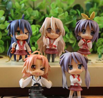 5pcs * Lucky Star Konata Izumi PVC Anime Action Figure Doll Set Of 5 pcs, New(China (Mainland))