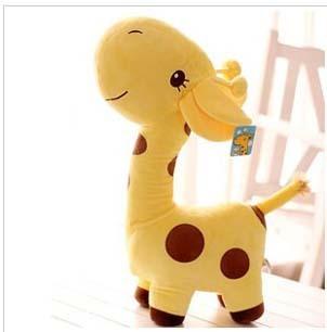 Free  ship  Cute yellow giraffe doll, plush toys /stuffed toys ,children gift,/birthday gift
