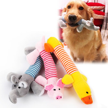 Dog Pet Puppy Plush Sound Dog Toys Pet Puppy Chew Squeaker Squeaky Plush Sound Duck Pig Elephant Toys Rubber Screaming Chicken(China (Mainland))