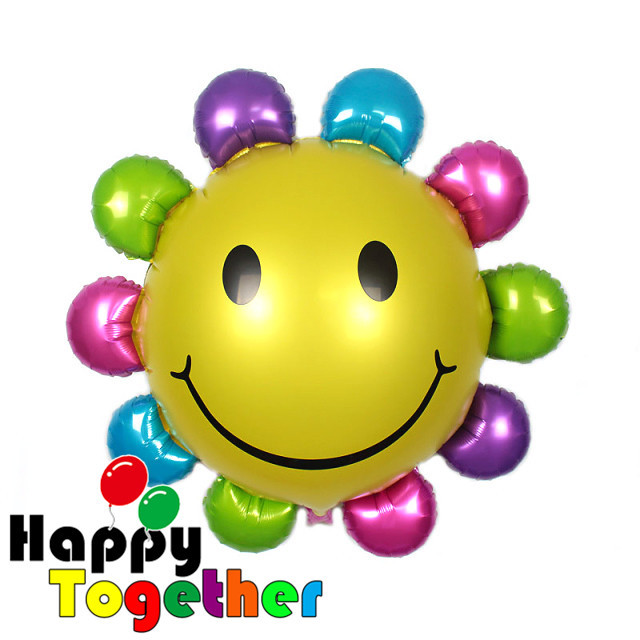 SMILE MARKET 2015 Wholesale 10 Pcs/lot Birthday Party Decorations Sunflowers Inflatable Foil Balloon 24 inch(China (Mainland))
