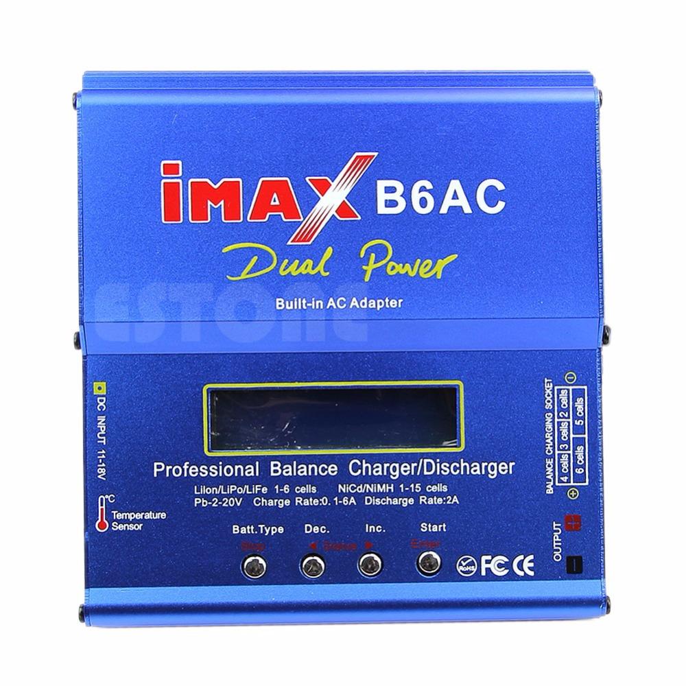 EU Plug 80W iMAX B6AC Balance Charger Charging For Lipo Polymer NiMH NiCd Battery(China (Mainland))