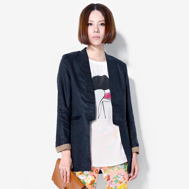 Fashion street style autumn brief fashion V-neck slim top female suit