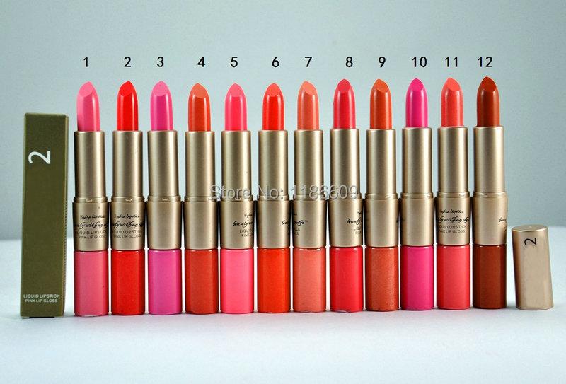Губная помада Makeup brand 12pcs/lot, 12 2 IN1 +