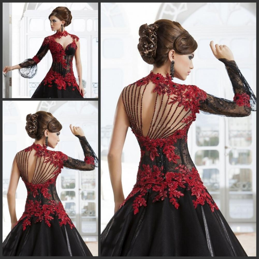 Red and Black Evening Ball Gown | Dress images