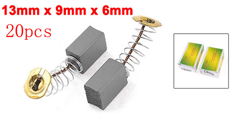 20 Pcs Dust Collector 13mm x 9mm x 6mm Springs Attached Carbon Brush(China (Mainland))