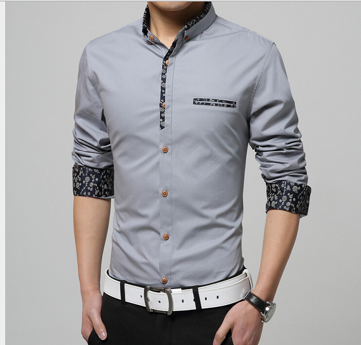 2015 new shirts men splicing no iron dress shirt high for Mens no iron dress shirts