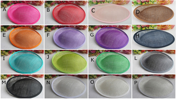 High Quality 25*24.5 cm Sinamay Anomalistic Base Dipped Base For Fascinator,Headwear,Headpirce 2 Layers 10pcs/lot #14 Color