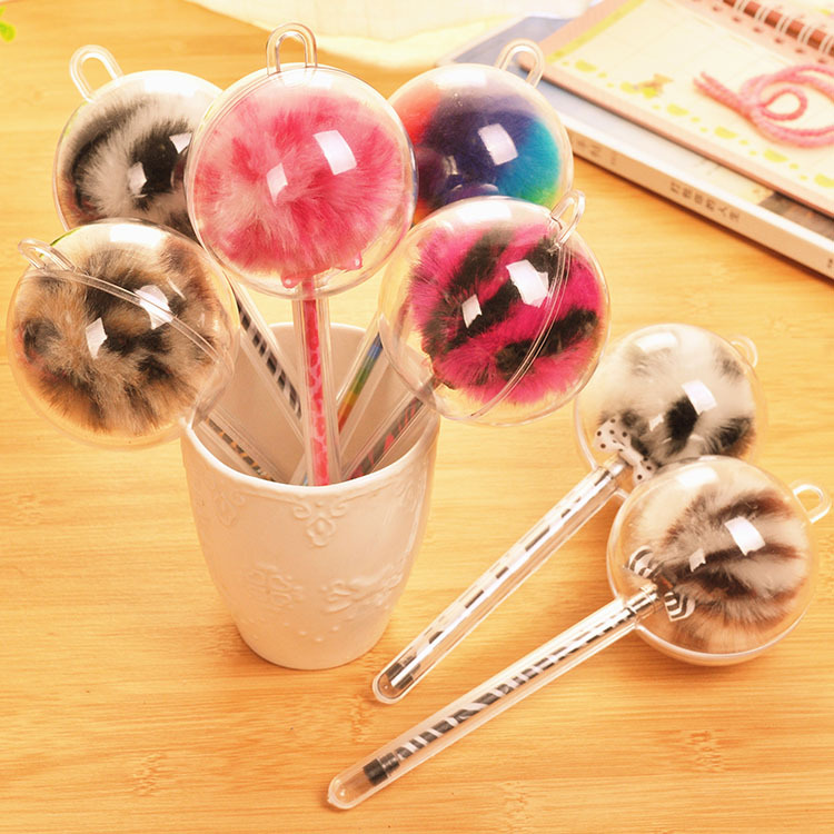 2016 New school supplies Korea creative stationery cute Colored wool balls pen free shipping P0007<br><br>Aliexpress